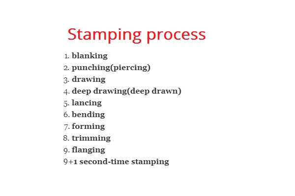 9step of stamping process