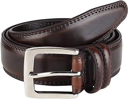 Read more about the article Men's Genuine Leather Belt 'ALL LEATHER' Classic Dress Casual Double Stitch 35mm