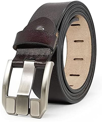 Read more about the article JingHao Designer Belts for Men Genuine Leather Casual Belt for Jeans Dress Big and Tall Black Brown Size 28″-64″